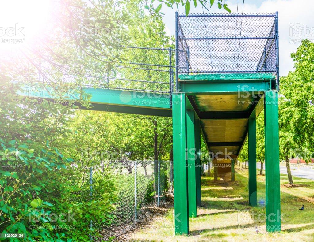 Green Walkway Bridge stock photo