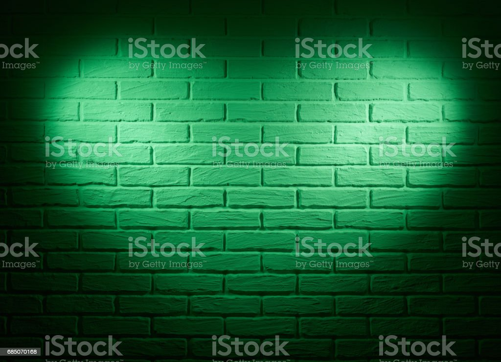 green wall with heart shape light effect and shadow, abstract background photo royalty-free stock photo