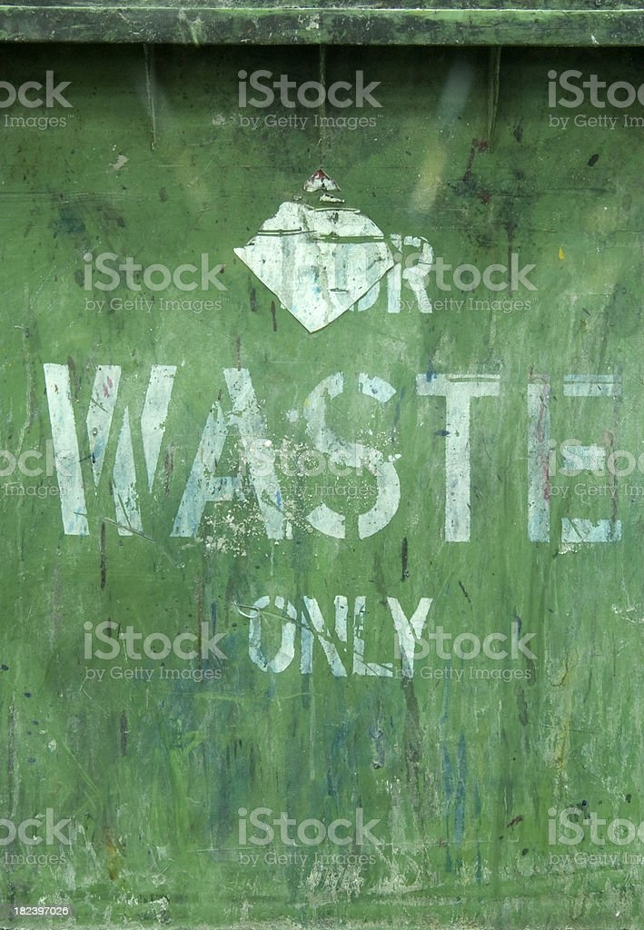 Green waste sign background royalty-free stock photo