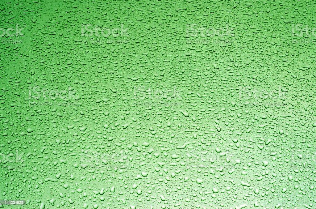 Green water drops royalty-free stock photo