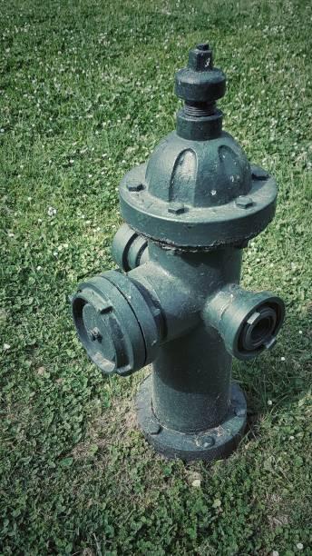 groen water hydrant - pics of the redtube stockfoto's en -beelden