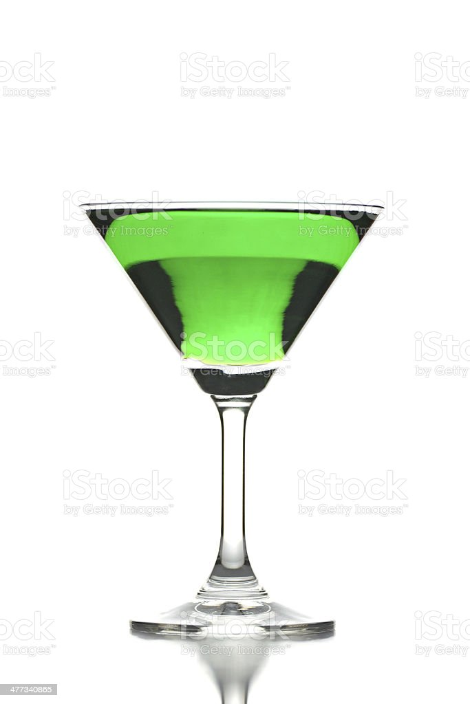 Green water in Glass isolated. royalty-free stock photo