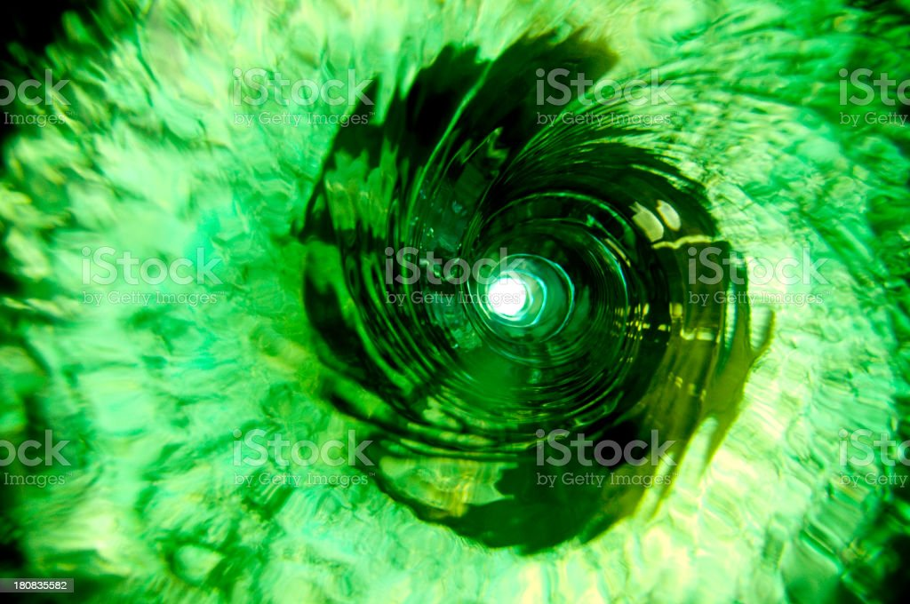 Green Water Vortex royalty-free stock photo