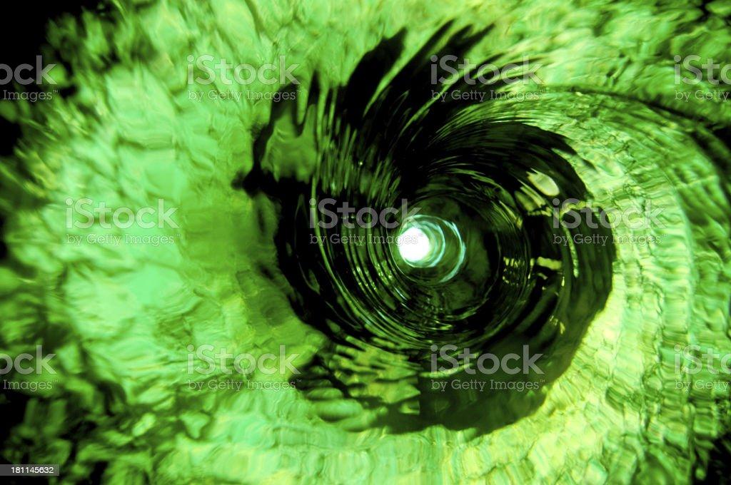 Green water vortex royalty-free stock photo
