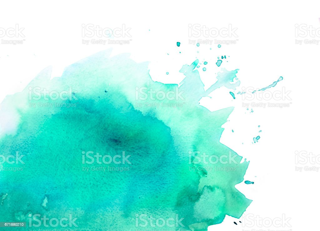 Fondo acuarela verde con toques - foto de stock