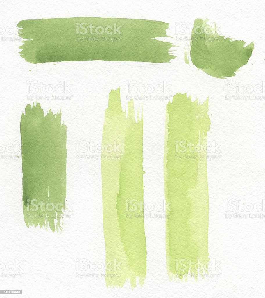 Green Watercolor Design Elements royalty-free stock photo