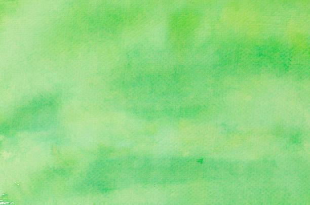 グリーン手描きの水彩バックグラウンド - 緑色 ストックフォトと画像