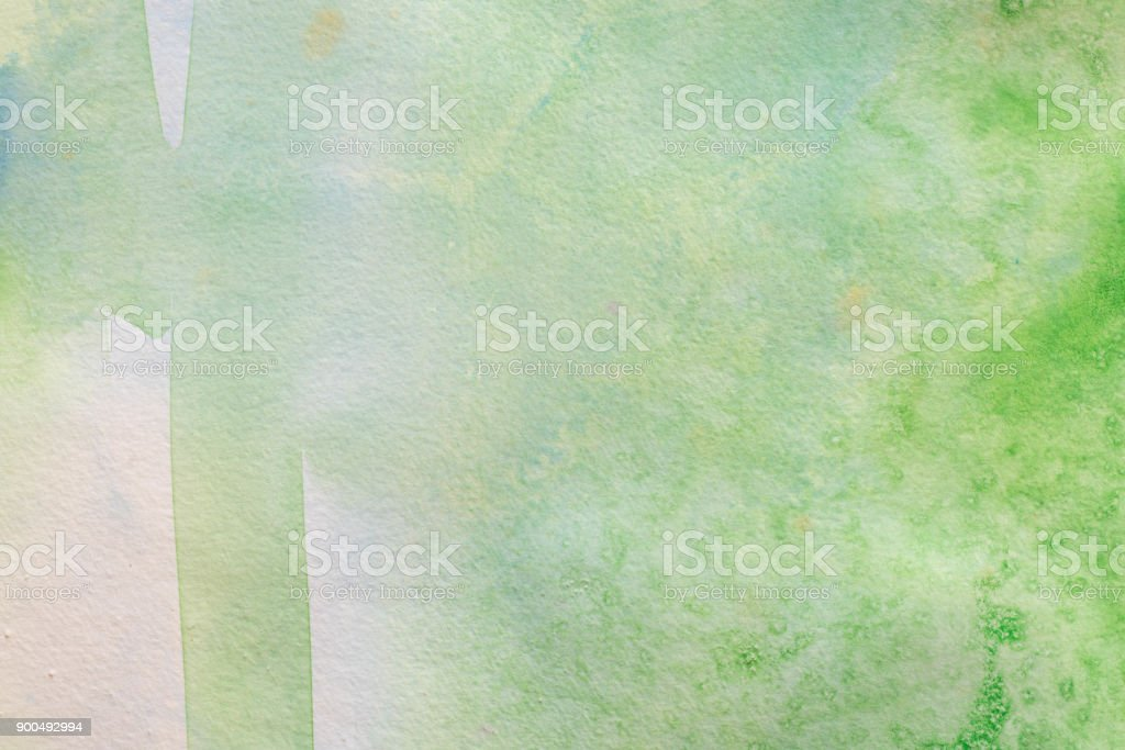 Green Watercolor Painting On White Paper Background Texture Royalty Free Stock Photo