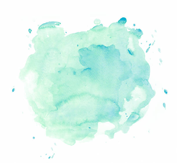 grüner Aquarellfleck – Foto