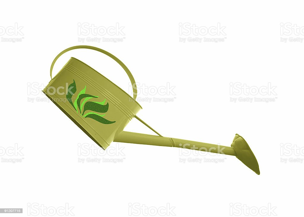 Green Watering Can royalty-free stock photo