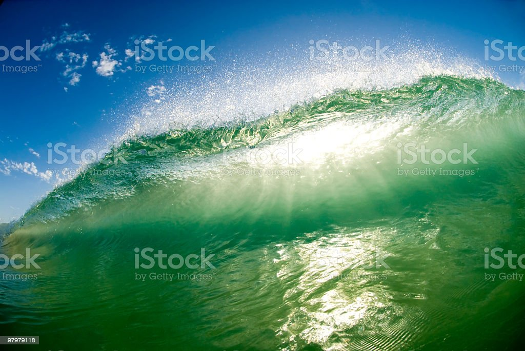 Green Wave Approaches royalty-free stock photo