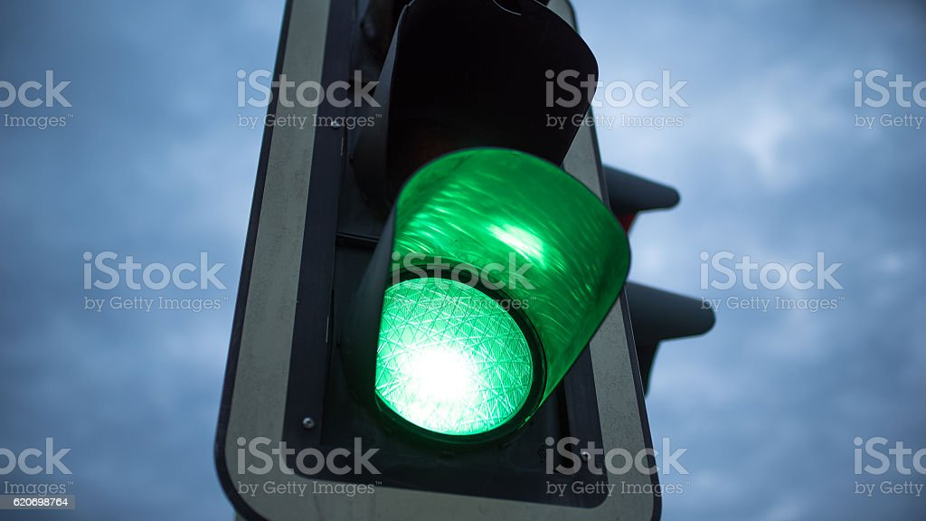 Grüne Welle stock photo