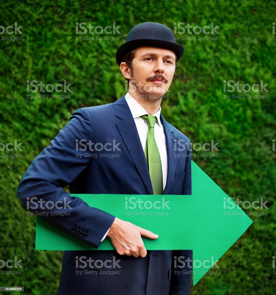 Green Way royalty-free stock photo
