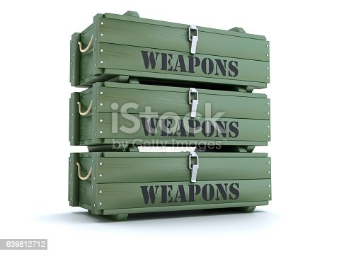 istock Green weapon crates 639812712