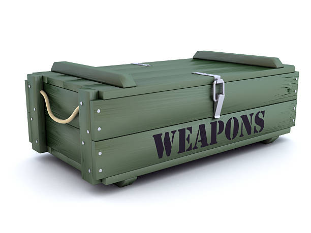 green-weapons-crate-picture-id588254388?