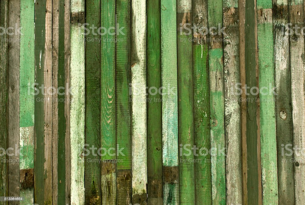 Green weathered wood wall texture. stock photo