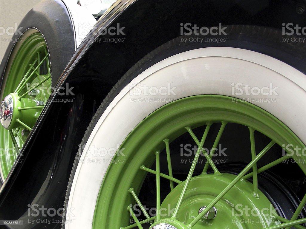 Green Wheels stock photo