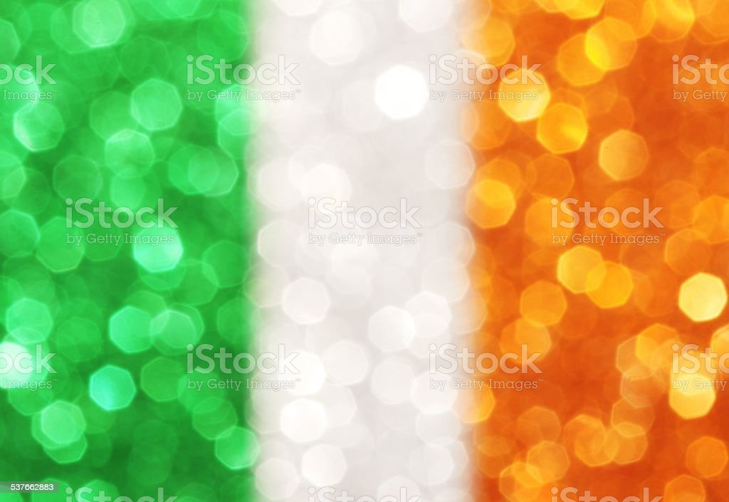 Green, white and orange vertical stripes - abstract background stock photo