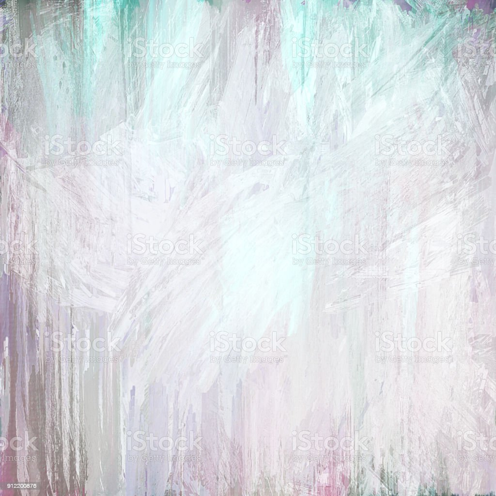 green white pink grungy abstract painted background stock photo