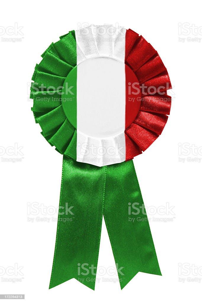 Green white red ribbon royalty-free stock photo