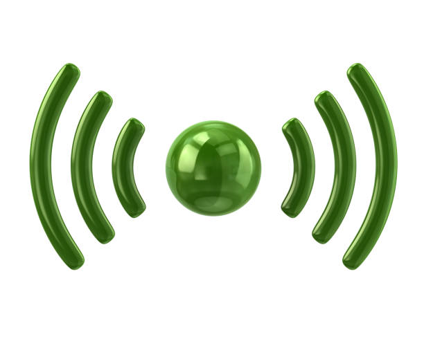 green wifi icon - wave icon stock photos and pictures