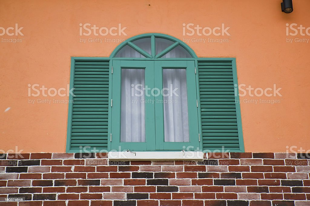 Green window is open. royalty-free stock photo