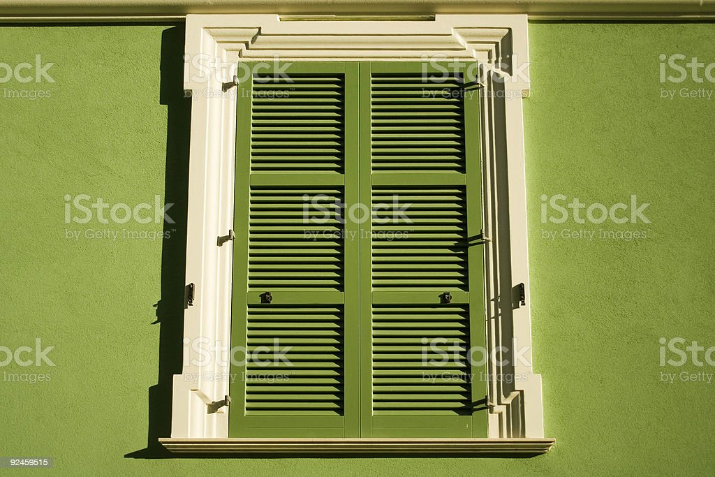 Green window royalty-free stock photo