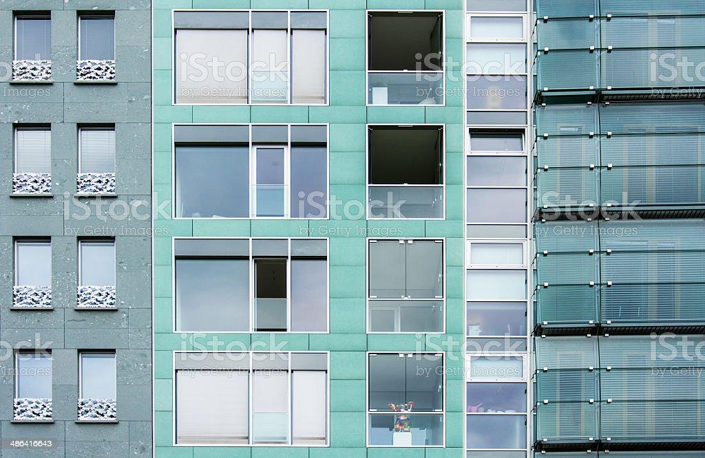 Green windows patterns stock photo