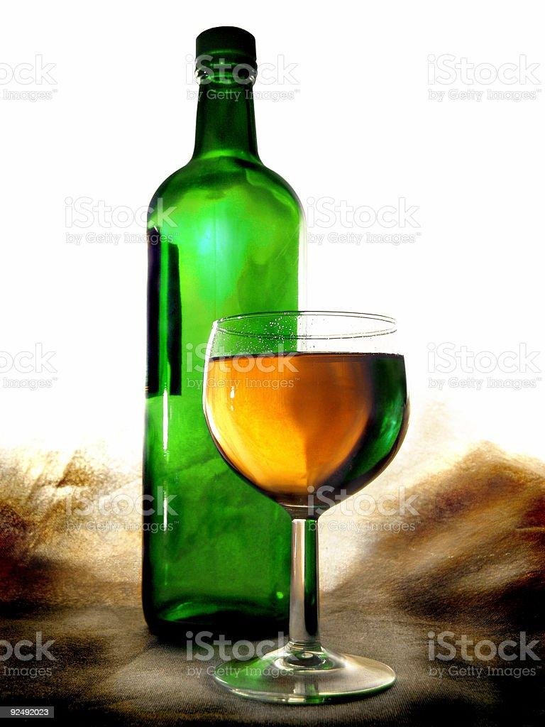 Green Wine royalty-free stock photo