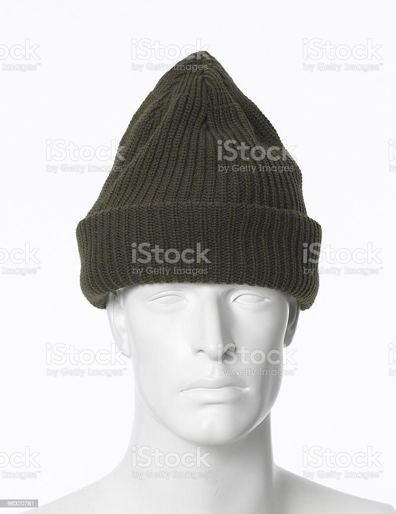 green winter hat royalty-free stock photo