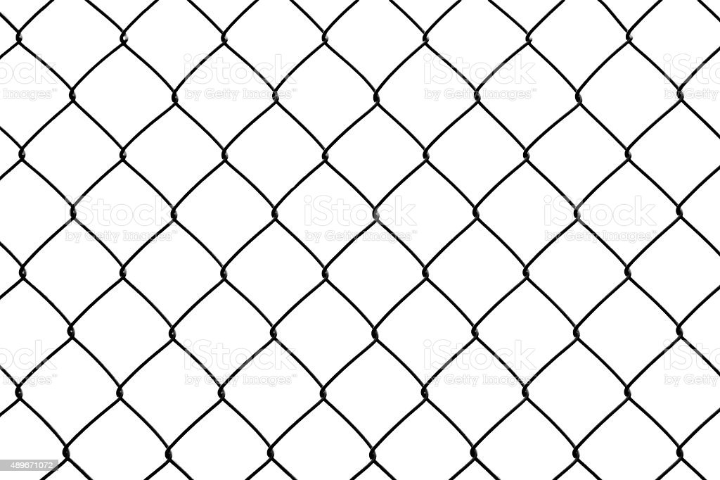 Green wire fence stock photo