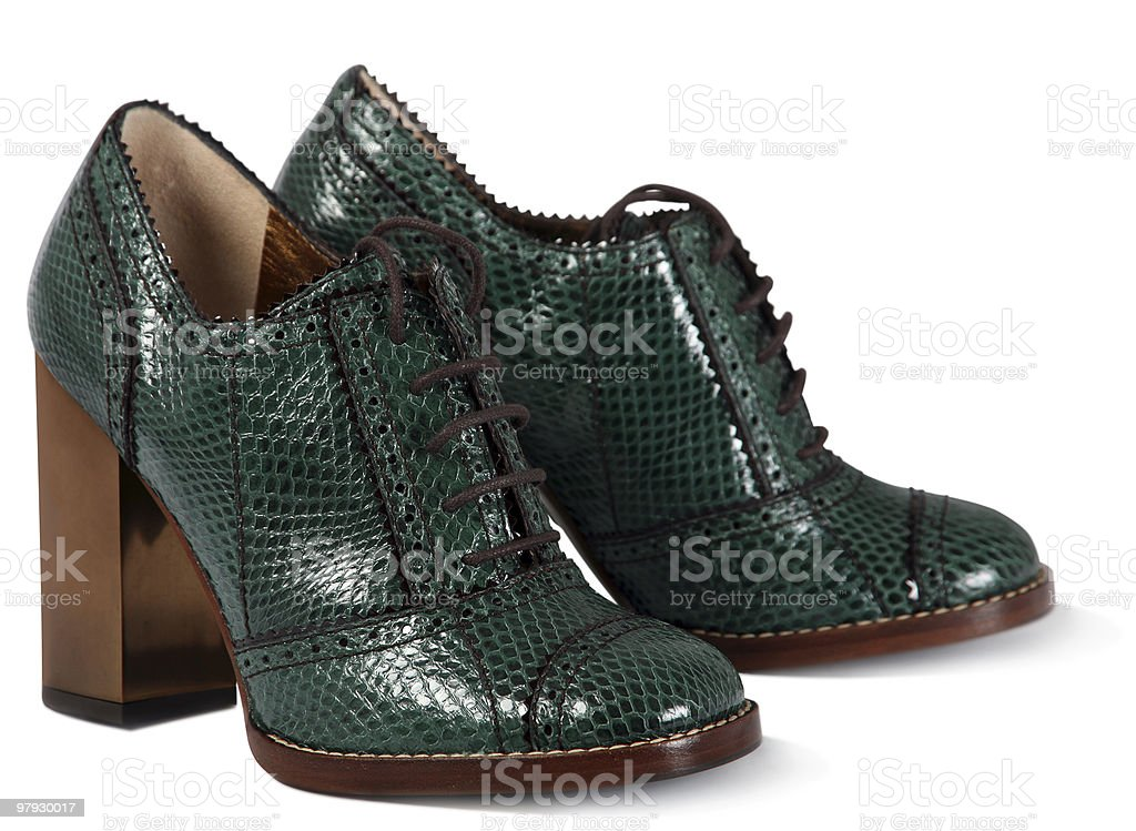 Green women shoes royalty-free stock photo