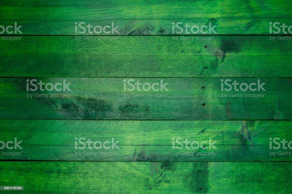 Grünes Holz Hintergrund im used-look – Foto
