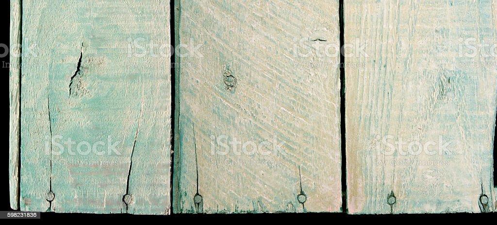 Pranchas de madeira verde foto royalty-free