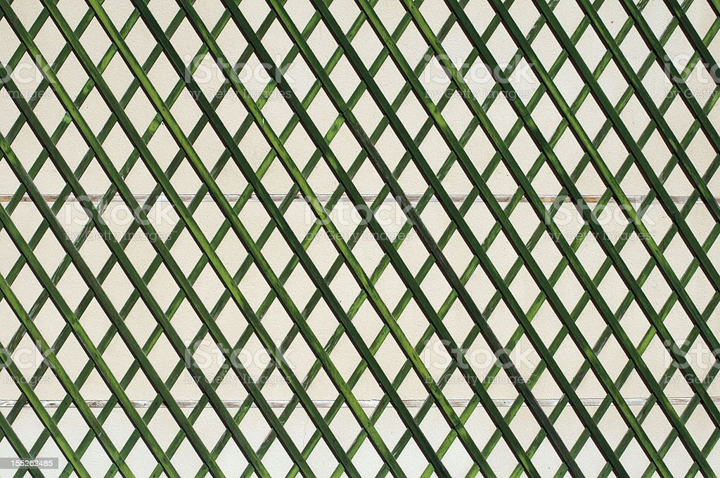 Green wooden lattice wall royalty-free stock photo