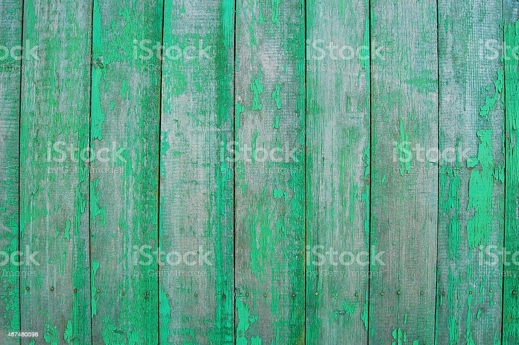 Green wooden planks stock photo