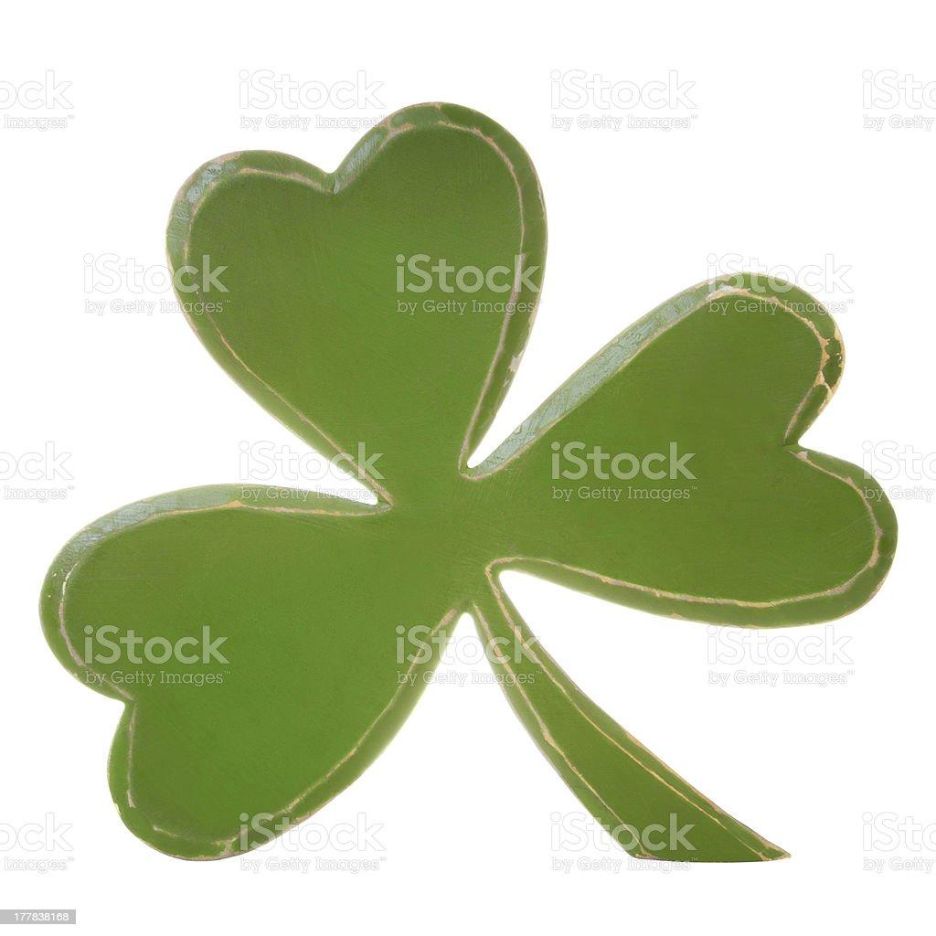 Green wooden shamrock royalty-free stock photo