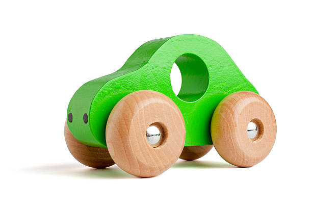 green wooden toy car - toy stock pictures, royalty-free photos & images