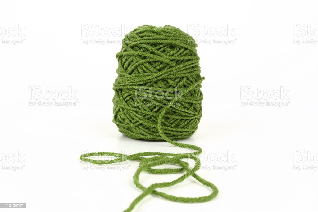 Green wool royalty-free stock photo