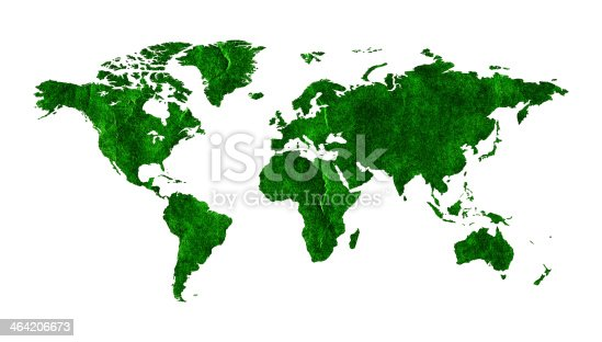 186020817istockphoto Green World map (Clipping path!) isolated on white background 464206673