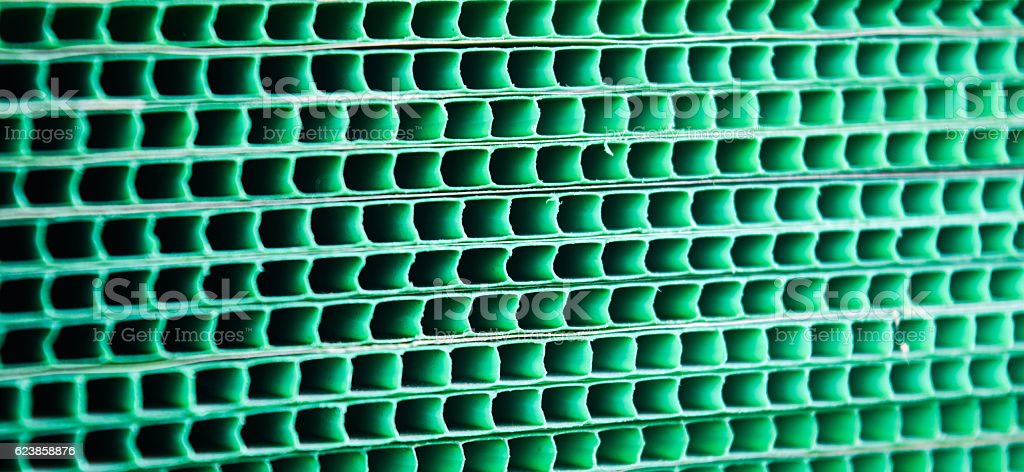 Green woven metallic grunge grid striped abstract background,sensitive focus stock photo