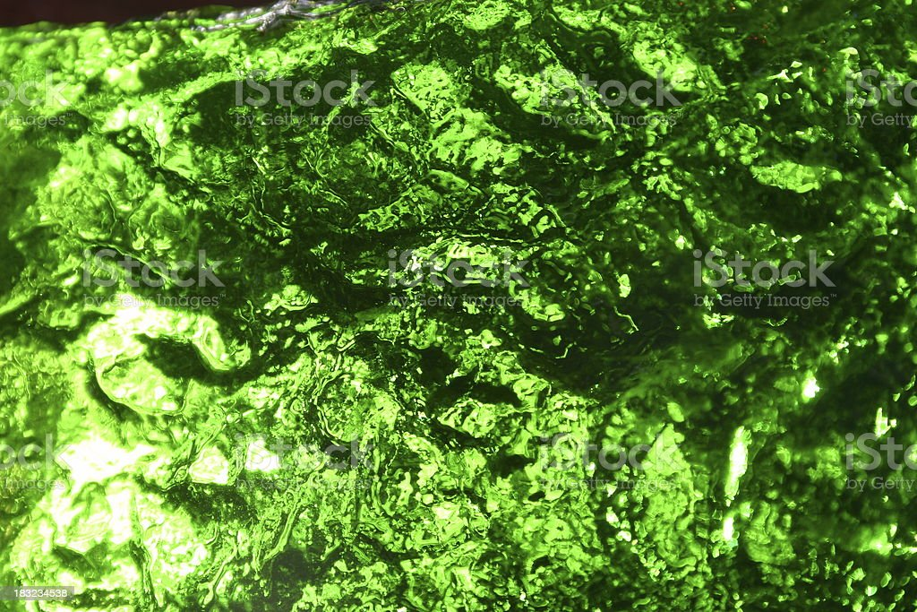 Green Wrinkle texture royalty-free stock photo