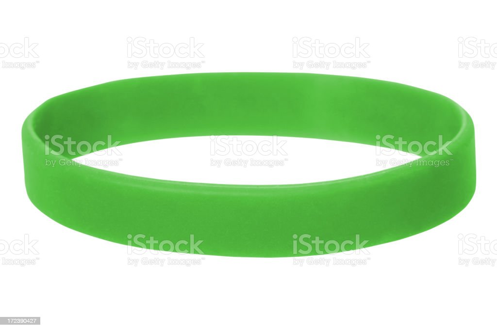Green Wristband stock photo