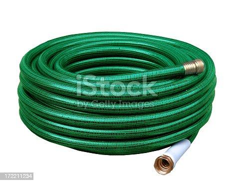 Shiny new gardening hose.