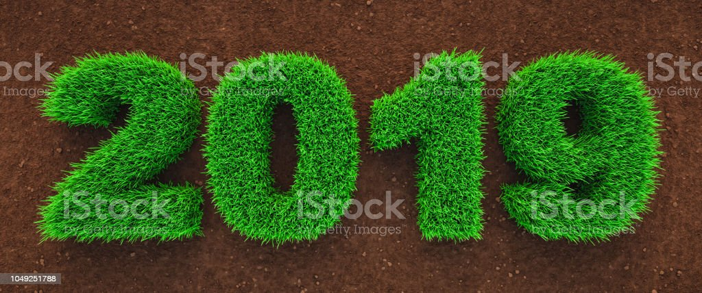 2019 Green Year Concept stock photo