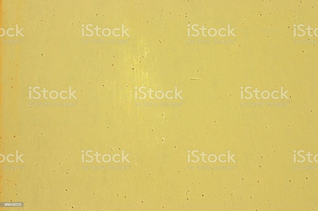 Green / yellow metal garage door background stock photo