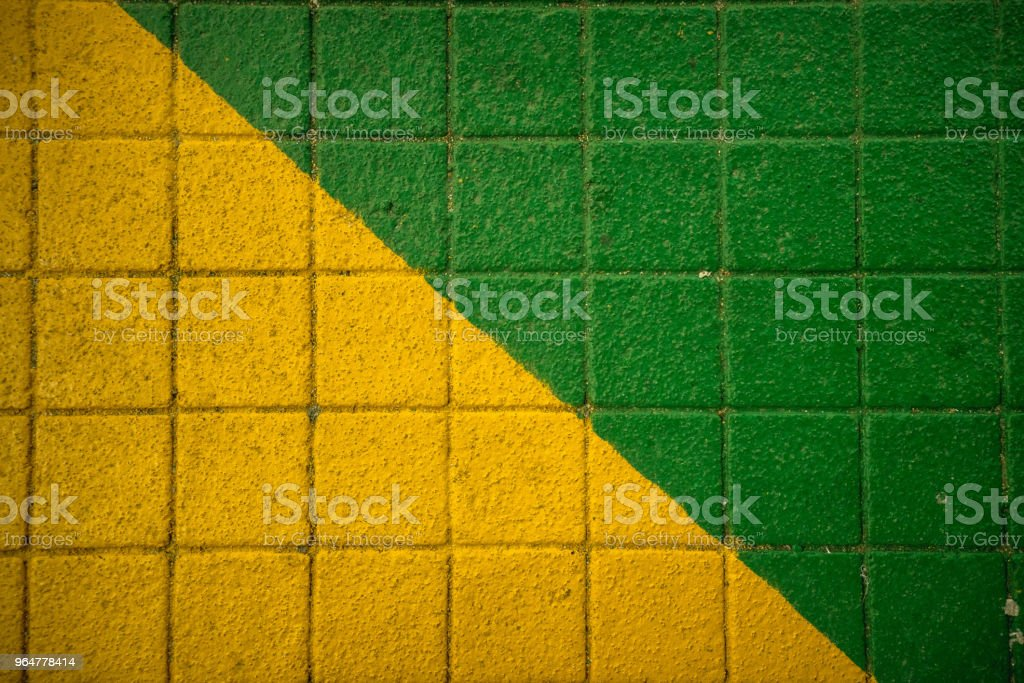 Green Yellow Sidewalk royalty-free stock photo