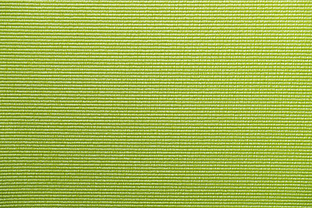 Green Yoga Mat Texture Background Stock Photo