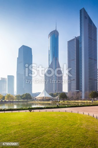 istock greenbelt park with lujiazui finance and trade zone in shanghai 479509681