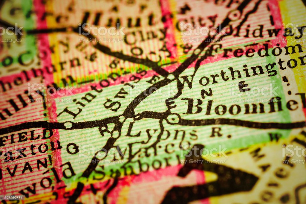 Greene Indiana County Maps Stock Photo More Pictures Of